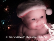 31. Baby's 1st lights!