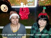 158. Trail of Lights 2015 - Sisters with Snoopy