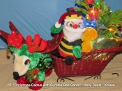 012. Christmas Cactus with Bumble Bee Santa