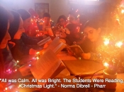 219. All was Calm. All was Bright. The Students Were Reading, in the Christmas Light.